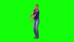 Happy woman is dancing Footage