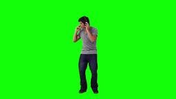 Man with headphones is dancing Footage