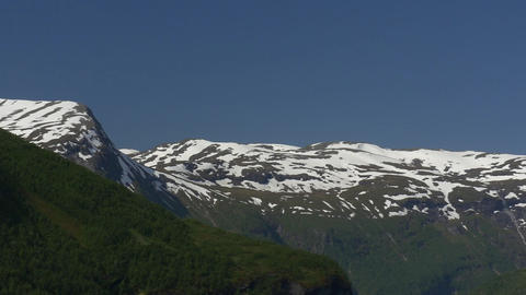 1080p, Mountain range covered with ice, Norway Stock Video Footage
