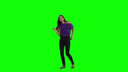 A brunette woman is dancing Footage