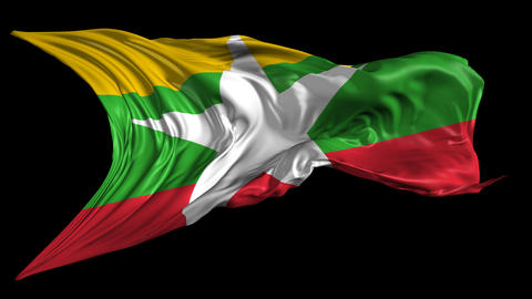 Flag of Burma-Myanmar Animation