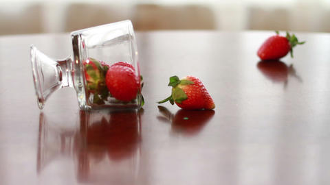 Strawberry, Wonderful Fresh Fruit Footage