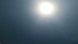 Underwater sunrays Footage