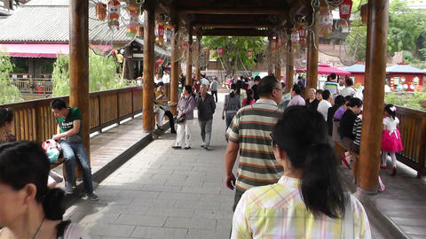 Wufeng Ancient Town Chengdu Area Sichuan China 6 H stock footage