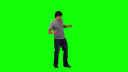 A man is dancing and singing Stock Video Footage