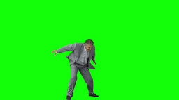 Happy businessman in slow motion raising his arms Footage