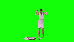 Upset woman in slow motion taking off her shoes Footage