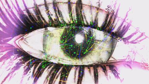 Digital Animation Of An Eye stock footage
