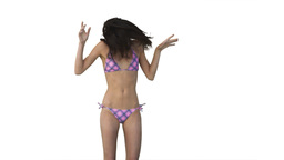 Girl in bikini jumping Stock Video Footage