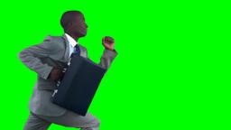 Business man runs Footage