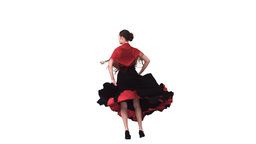Woman dancing in a dress in slow motion Footage