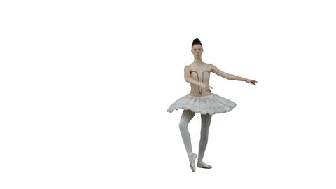 Ballerina moving in slow motion Stock Video Footage
