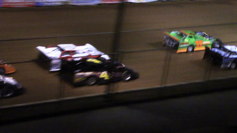 1686 Race Cars Racing at a Dirt Track Late Models Footage