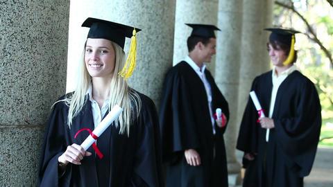 Portrait of a female graduate Footage