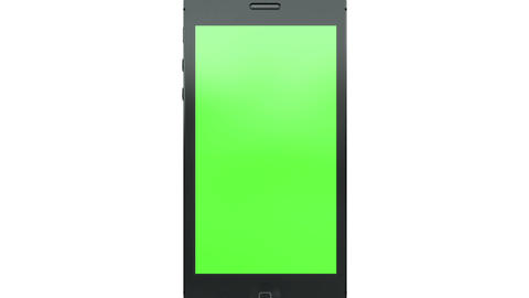 1703 Smart Phone with Green Screen Animation Footage