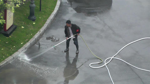 Street Washer Sichuan China 1 Footage