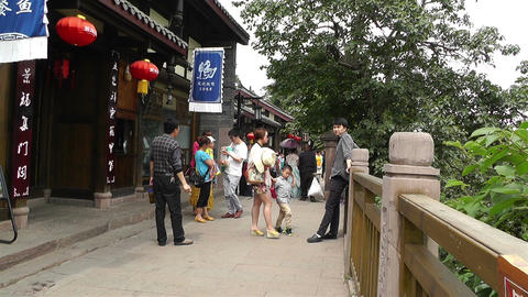 Wufeng Ancient Town Chengdu Area Sichuan China 18 Footage