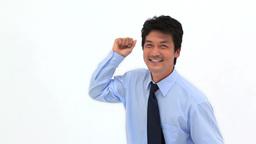 Smiling man dancing Footage