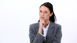 Serious woman standing upright Footage