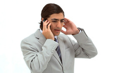 A businessman on the phone Stock Video Footage