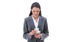 Businesswoman counting banknotes Footage
