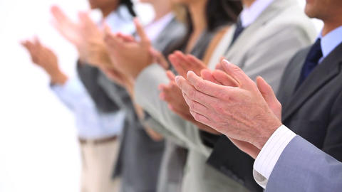 Close up of hands applauding Stock Video Footage