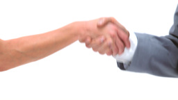 Businesswoman shaking a mans hand Stock Video Footage