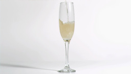 Champagne being filled in super slow motion Footage