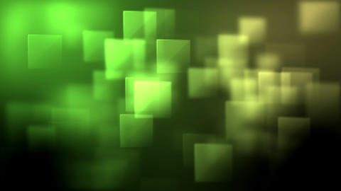 Green and yellow squares appearing, Stock Animation