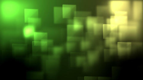 Green and yellow squares appearing Stock Video Footage