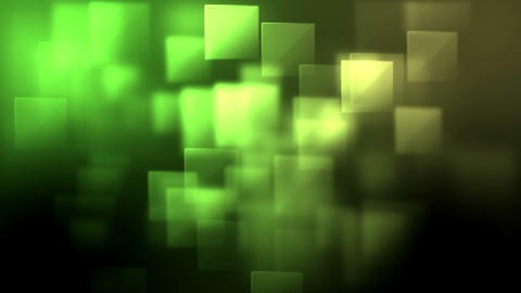 Green and yellow squares appearing Animation