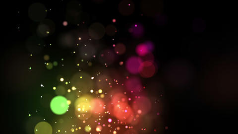 Bright multicolored points coming up Stock Video Footage