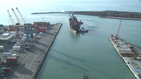 arriving ship time lapse Stock Video Footage