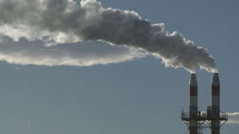 industrial chimney wide Footage