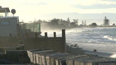 coastal erosion 2 Stock Video Footage