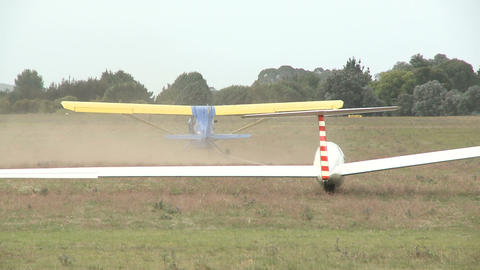 glider liftoff Stock Video Footage