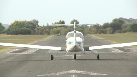 small plane takes off Stock Video Footage