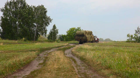 Big tractor Stock Video Footage