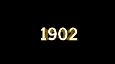 Year 1902 a HD Stock Video Footage