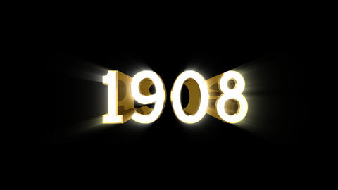 Year 1908 a HD Stock Video Footage