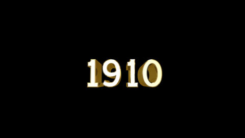Year 1910 a HD Stock Video Footage