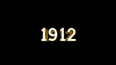 Year 1912 a HD Stock Video Footage