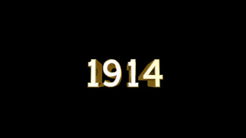 Year 1914 a HD Stock Video Footage