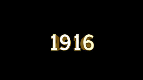 Year 1916 a HD Stock Video Footage