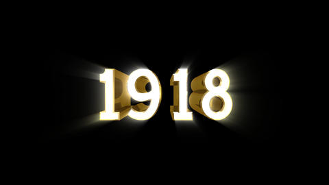 Year 1918 a HD Stock Video Footage
