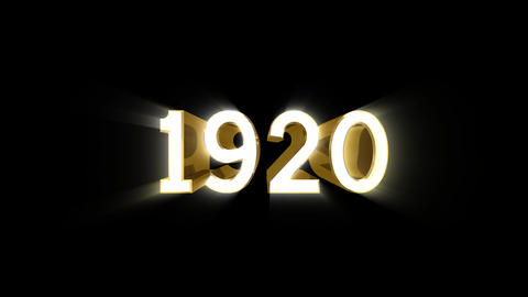 Year 1920 a HD Stock Video Footage