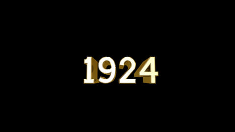 Year 1924 a HD Stock Video Footage