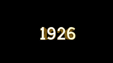 Year 1926 a HD Stock Video Footage