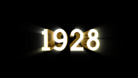 Year 1928 a HD Stock Video Footage