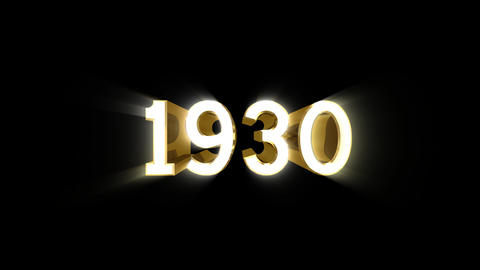 Year 1930 a HD Stock Video Footage
